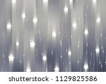 abstract shiny grey background. ... | Shutterstock . vector #1129825586