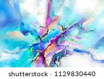 abstract colorful oil painting... | Shutterstock . vector #1129830440