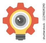 gear light bulb with eyeball ... | Shutterstock .eps vector #1129839290