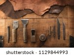 leather craft or leather... | Shutterstock . vector #1129844993