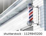 Barber Shop Pole Background...