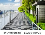 beautiful rooftop garden.... | Shutterstock . vector #1129845929