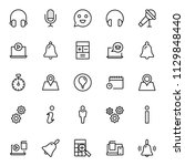 technical support flat icon set....   Shutterstock .eps vector #1129848440
