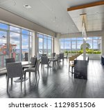 spacious resident lounge... | Shutterstock . vector #1129851506