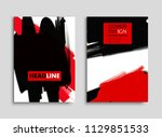 abstract flyer in grunge style... | Shutterstock .eps vector #1129851533