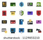 colored vector icon set  ... | Shutterstock .eps vector #1129853210