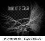 collection of cobweb  isolated... | Shutterstock .eps vector #1129855109