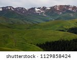 pass in the almaty mountains ... | Shutterstock . vector #1129858424