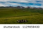 pass in the almaty mountains ... | Shutterstock . vector #1129858430