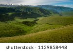 pass in the almaty mountains ... | Shutterstock . vector #1129858448