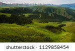 pass in the almaty mountains ... | Shutterstock . vector #1129858454