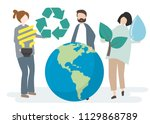 environmental conservation and... | Shutterstock .eps vector #1129868789