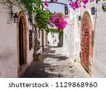 Narrow Street In Lindos Town O...