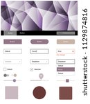 light purple  pink vector ui ux ...