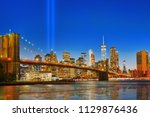 new york night view of the... | Shutterstock . vector #1129876436