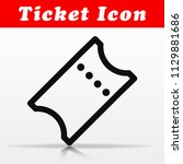 illustration of line ticket...   Shutterstock .eps vector #1129881686