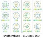document and scissors  message... | Shutterstock .eps vector #1129883150