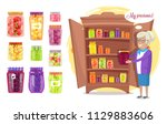 canned grandmother's precious... | Shutterstock .eps vector #1129883606