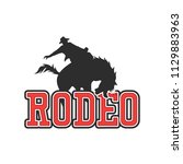 rodeo logo for your sport... | Shutterstock .eps vector #1129883963