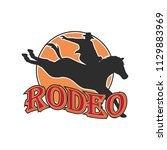 rodeo logo for your sport... | Shutterstock .eps vector #1129883969