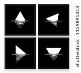 shape reflection in water.... | Shutterstock .eps vector #1129891313