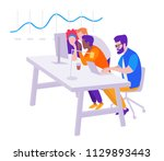workflow  office open space  a... | Shutterstock .eps vector #1129893443