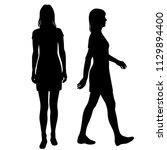vector silhouettes women... | Shutterstock .eps vector #1129894400