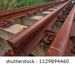 deteriorate of old cement... | Shutterstock . vector #1129894460