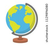 a table globe with concept of... | Shutterstock .eps vector #1129896080