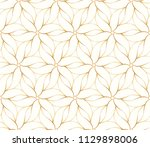 seamless golden flower pattern... | Shutterstock .eps vector #1129898006