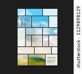 modern style tiled flyer or...   Shutterstock .eps vector #1129898129