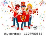 london fans  arsenal football... | Shutterstock .eps vector #1129900553
