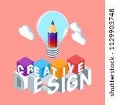 creative design concept. image... | Shutterstock .eps vector #1129903748