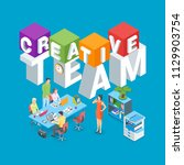 creative team concept. image of ... | Shutterstock .eps vector #1129903754