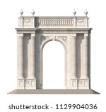 arcade from a stone with doric... | Shutterstock . vector #1129904036