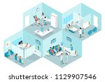 isometric flat interior of... | Shutterstock .eps vector #1129907546