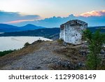 the lonely medieval neglected... | Shutterstock . vector #1129908149