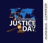 international justice day... | Shutterstock .eps vector #1129909259