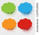 colorful speech bubble... | Shutterstock .eps vector #1129910003