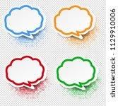 speech bubble set transparent... | Shutterstock .eps vector #1129910006