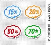 speech bubble set transparent... | Shutterstock .eps vector #1129910009