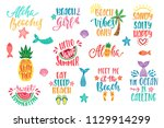 hello summer  beach vibes ... | Shutterstock .eps vector #1129914299