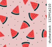 simple seamless watermelon... | Shutterstock .eps vector #1129916210