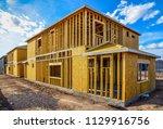 new single family residences... | Shutterstock . vector #1129916756