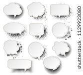retro speech bubble with white... | Shutterstock .eps vector #1129923080