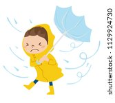 dangerous condition with rain... | Shutterstock .eps vector #1129924730