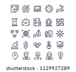 simple set of business... | Shutterstock .eps vector #1129927289