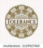 brown abstract linear rosette... | Shutterstock .eps vector #1129927460