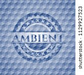ambient blue emblem with... | Shutterstock .eps vector #1129927523