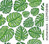 summer exotic seamless pattern... | Shutterstock .eps vector #1129928486